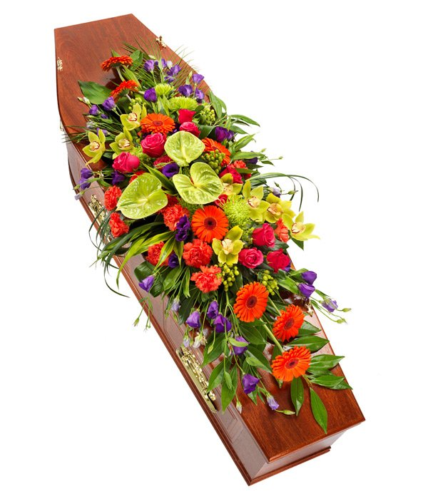 Bright and Vibrant Coffin Sprays