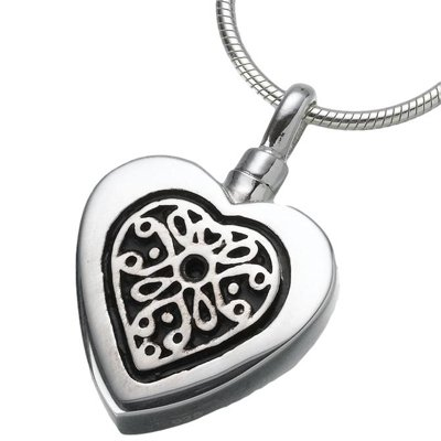 Heart Pendant - Ashes Cremated Remains