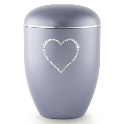 Swarovski Heart Biodegradable Keepsake Urn