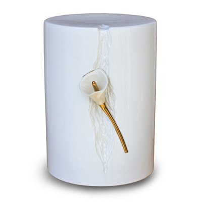 White Lily Keepsake Urn